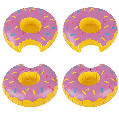 Richoose di 4pc gonfiabili pieghevoli cup holders piscina galleggianti coasters per water party