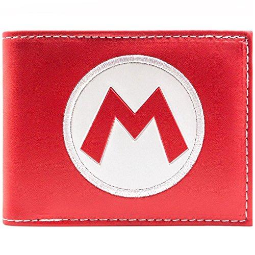 Super Mario Super Mario Hat Logo Rot Portemonnaie Geldbörse