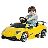 Kinder Lamborghini Murcielago gelb Fahrzeug zum reinsitzen für Kinder