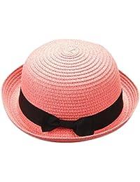 Madre Y Yo Bebé Bowknot Niños Sombrero Transpirable Sombrero De Paja  Sombrero De Niños Sombrero De Niñas AIMEE7 Sombrero De Sol… 61ed9d1d007