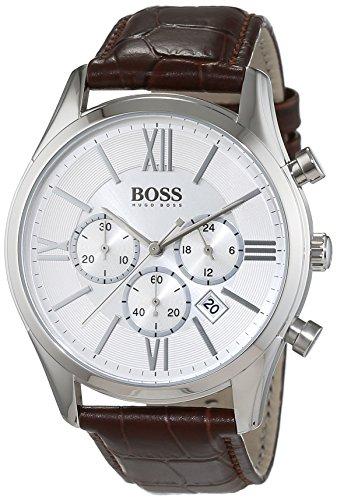 Hugo Boss Herren-Armbanduhr Chronograph Quarz Leder 1513195