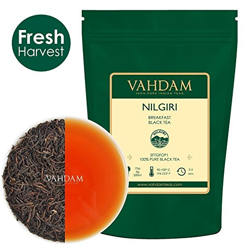 VAHDAM, té negro Nilgiri Breakfast 150+ Copas | Hojas