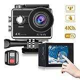 Action Cam Action Kamera ACTMAN Sport Kamera Wasserdicht Kamera HD 1080P Action Cam 4 K Wifi Touch...