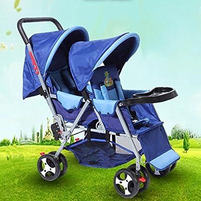 Baby Travel - Silla De Paseo Universal Pram Duo Twin con Capota para Lluvia con Capazo Disponible