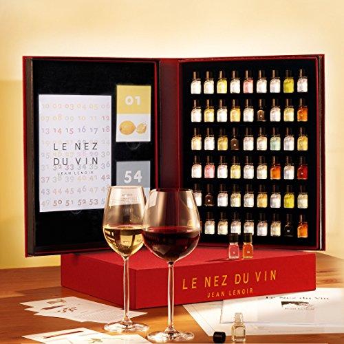 Le Nez du Vin GROßES MODELL mit 54 Aromen Deutsch, Edition Jean Lenoir - (NEZDUVDT) / Weinaromen-Set zur Beurteilung von Weinen