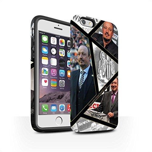 Officiel Newcastle United FC Coque / Matte Robuste Antichoc Etui pour Apple iPhone 6S / Pack 8pcs Design / NUFC Rafa Benítez Collection Montage