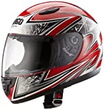 Protectwear SA03-RT-XS Kinder Motorradhelm, Integralhelm, Größe XS (Youth L), Rot/Silber