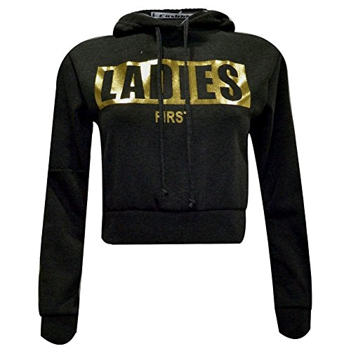 Generic - Sweat à capuche - Chemise - Manches Longues - Femme Black Firs