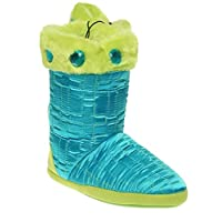 Blazin Roxx Slippers Womens Faux Fur Quilted Crystal Small Turq Lime