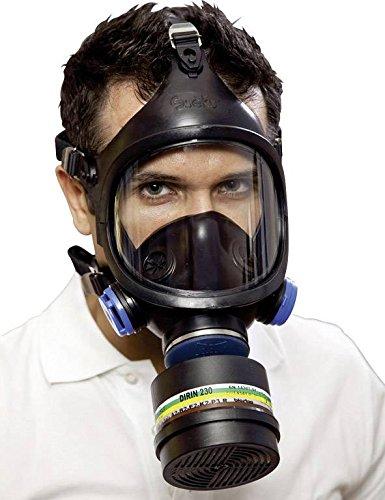 maske C607 Selecta Kl.2 2Ventile o.Atemfilter EKASTU DIN/EN148-1 ()