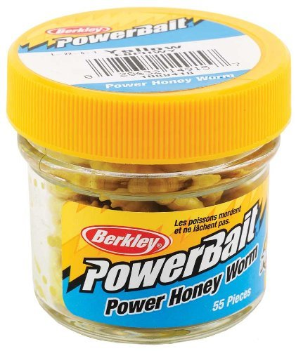 Berkley EBPHWY PowerBait Power Honey Worm, Yellow, 1-Inch by Berkley - Worm Honey Power