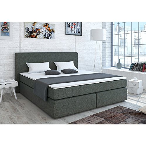 designer boxspringbett 140 200 cm bonell federkernmatratze inkl komfortschaum topper. Black Bedroom Furniture Sets. Home Design Ideas