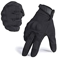‏‪WTACTFUL Winter Windproof Warmer Touch Screen Full Finger Gloves for Cycling Motorcycle Motorbike Skiing Snowboard Camping Climbing Bike Riding Racing Bicycle Work Outdoor Gloves Black X-Large‬‏