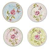 Villeroy & Boch 10-4141-8660 Rose Cottage Frühstücksteller-Set, Premium Porzellan4-teilig