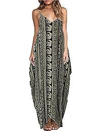 M//L 38 40 42 Maxikleid Kleid Sommer Strandkleid Elefant schwarz weiß Gr