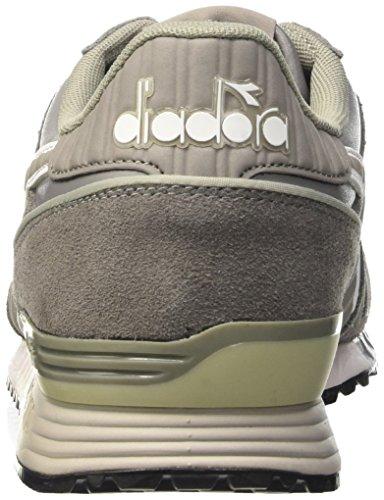 Diadora Titan Leather L/S, Pompes à plateforme plate homme Grigio (Grigio Cenere)