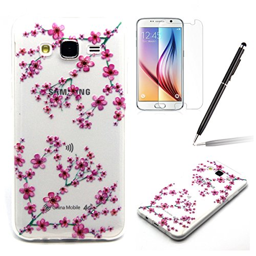 Samsung J5 Bumper - Felfy Ultra mince Slim Unique White Feather and Bird Design Style Gel Souple Soft Flexible TPU Silicone Coque Etui Protective Housse Case Cas Cover Couverture pour Samsung Galaxy J Clair TPU #10