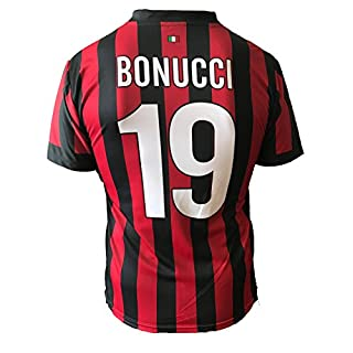 A.C. Milan Fußballtrikot Milan BONUCCI 19Replica zugelassen 2017–2018Kinder (Größen 24681012) Erwachsene (S M L XL)