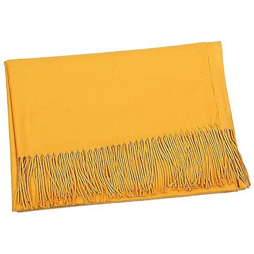 PinzhiNeue Mode Frauen Solide Winter Kaschmir Pashmina Schal Wrap Schal Schals (Gelb )