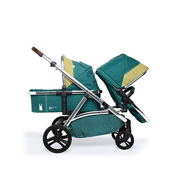 Cosatto Wow XL 3-in-1 Pram and Pushchair, Suitable from Birth - 25 kg, with Tandem Mode and Buggy Board- Hop to It Cosatto The flexible family unit, Wow XL has the capability, straight out of the box, to be used as a single child travel system (3-in-1) or as a double/tandem for an older sibling too, with no need to buy any extras (box includes: 1 x Carrycot and 1 x Seat unit) The spacious carrycot is comfy, with extra padded mattress and apron; easy to manoeuvre with one handed pushbutton carrycot release; swap the from-birth carrycot to reversible pushchair seat when they're ready to sit up; the single pushchair mode supports up to 25 kg so your toddler can use it for even longer; with the added ease of one-handed seat unit recline and integrated calf support; the fully extendable hood with visor is 100 UPF and has a peep hole to keep an eye on little ones High-quality craftsmanship; from woven textured fabrics and discoverable details, to gleaming chrome chassis from significant leatherette handle to exquisite embroideries and felt appliques; each design comes with two cuddly travelling companions, straight from Cosatto's famous storytelling pattern; when you explore together, anything can happen 4
