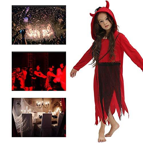 JH&MM Halloween Kostüm Kind Mädchen Rote Kette Teufel Anzug Rollenspiel Maskerade Leistung,L