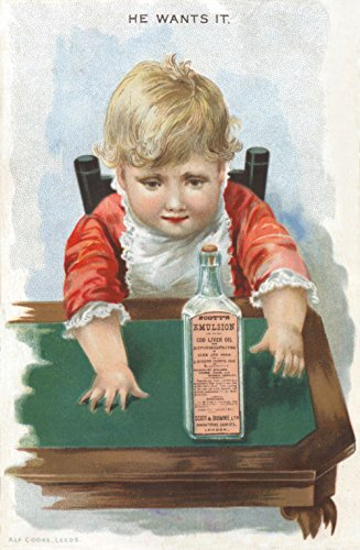 ung Poster gerahmt A3Scotts Emulsion ()