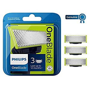 Philips QP230/50 Genuine UK OneBlade Replacement Blade, Pack of 3 (1 Year Supply)