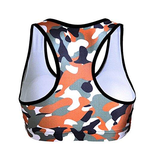 WKAIJCC Donna Biancheria Intima Sport Reggiseno Giubbotto Yoga Nessuna Traccia Nessun Anello In Acciaio Digitale Stampa E