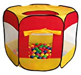 100-Pit-Ball Play Tent Popup Hexagon Mes...
