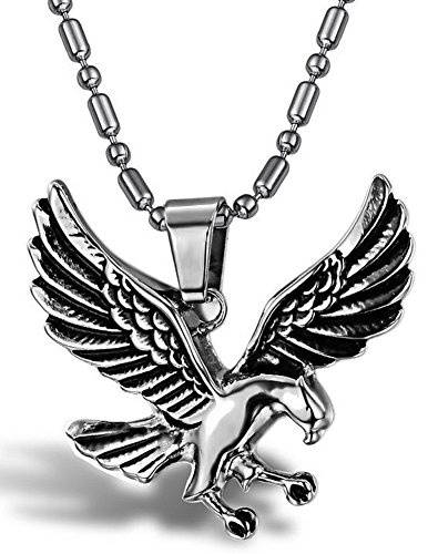 SaySure - Jewelry Eagle Chain Men's 316l Stainless Steel (Mens Sterling Silver Eagle)