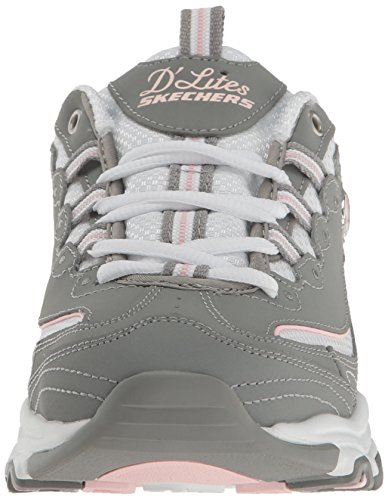 Skechers  D'LitesCentennial,  Sneaker donna Biggest Fan Grey/White