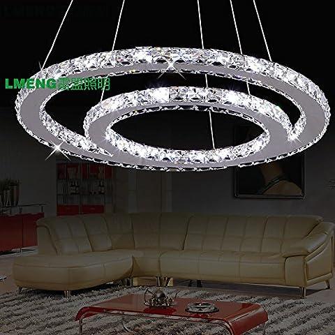 La mia unione factory outlet round doppio loop lampadario creative bar KTV bar lampadari di cristallo ha portato l'illuminazione della stanza,60CM