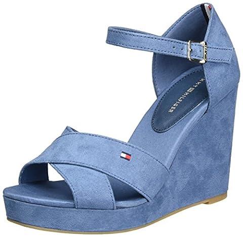 Chaussures Hilfiger Denim - Tommy Hilfiger E1285lena 45d, Sandales Bout Ouvert