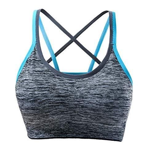 BURFLY Damen abnehmbares Pad stoßfest Sport-BH Unterwäsche Fitnessstudio schnell trocknender BH Sport Yoga Weste (Sport-kleinkind-unterwäsche)