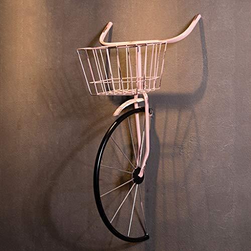 Decoración pared maceta cesta bicicleta,estilo industrial