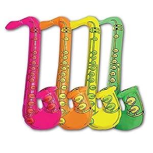 Gifts 4 All Occasions Limited SHATCHI-1118 Shatchi-5 piezas Saxofón inflable Accesorio para disfraz, despedida de soltera, boda, juguetes para niños, Multi