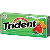 Trident Sugar-Free Gum with Watermelon twist, 18 Sticks - Pack of 2