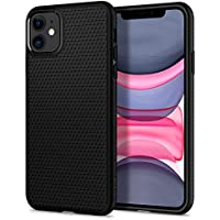 Spigen Liquid Air, Designed for iPhone 11 Case, Ergonomic Grip Pattern Etched Case for iPhone 11 (2019) - Black