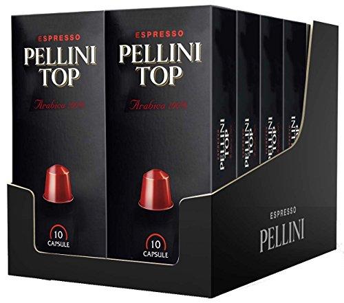 Pellini Caffè, Espresso Pellini Top Arabica 100%, Compatibili Nespresso, 12 Astucci da 10 Capsule, 120 Capsule