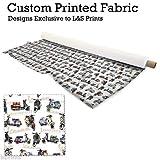 Roller & Text Design Digitaldruck Mikrofaser Slinky Stoff