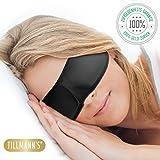 Hochwertige Schlafmaske 3D Damen | Nachtmaske | 100% Blackout Augenschutz | Für alle Kopfgrößen | Schlafmaske in Premiumqualität von Tillmann's Deutschland