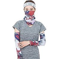 DQWGSS Brazo Manga Bufanda Tatuaje Falso enfriamiento protección UV para Hombres Mujeres niños para Ciclismo conducción Deportes al Aire Libre Golf 1 Pares Manga + Bufanda,Style 2