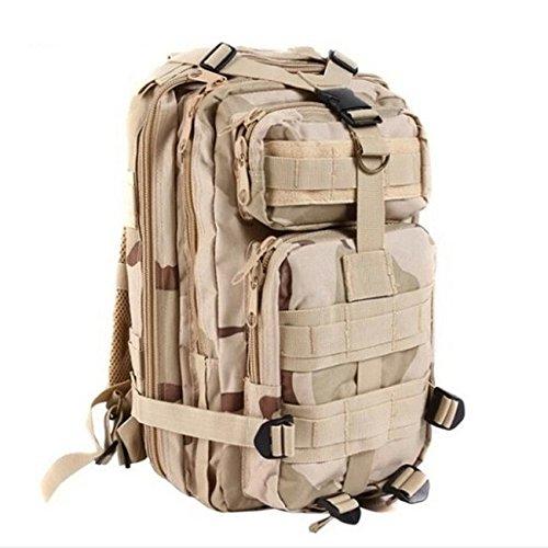 Mefly Tarnung Taktik Tasche Rucksack Wasserdicht 3P Militärischen Rucksack Nylon Reisen Armee sand