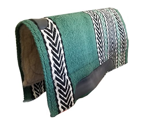 TACK MAKERS New 86,4 x 91,4 cm NZ Wolle Westernpad Decke w Fleece 4179, Hunter Green -