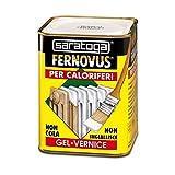 Saratoga fernovus speciale per caloriferi 750ml smalto bianco ghiaccio satinato per termosifoni diretto su ruggine