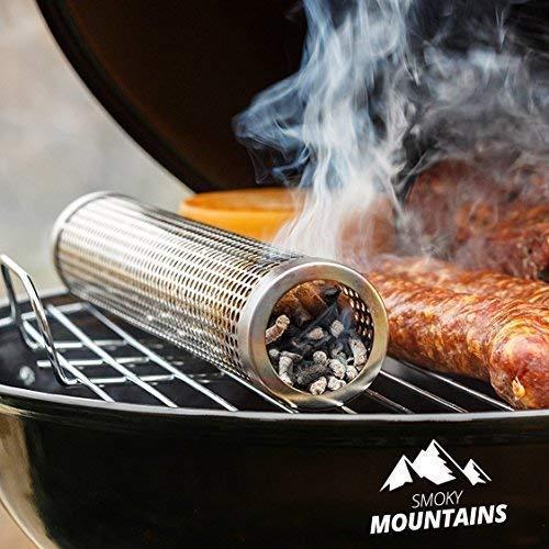 ⭐ [Smoky Mountains®] Kaltraucherzeuger – Kaltrauchgenerator für Barbecue oder Rauchofen – (30,5 cm)