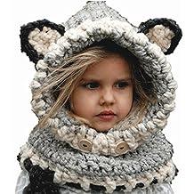 Ecovers Inverno Caldo Caldo Lana Baby Scialle Caldo Cappello di Un Pezzo  Ragazzo Ragazza Maglia Cappello 857e7293e5e5
