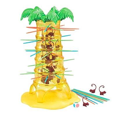 deAO Tumbling Monkeys Arbre du Singes Fous - Jeu de Table avec 30 Singes - Conception ÉCOLOGIQUE