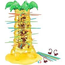 deAO Tumbling Monkeys Árbol de Monos Locos - Juego de Mesa con 30 Monos - Diseño ECOLOGICO
