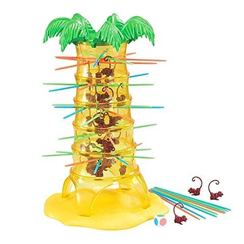 deAO Tumbling Monkeys Verrückte Affen Baum Tischspiel mit 30 Affen - ÖKOLOGISCHE Gestaltung